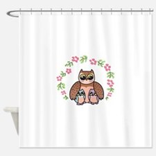 Mom & Baby Owls Shower Curtain