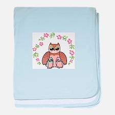 Mom & Baby Owls baby blanket