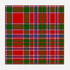 MacAlister Scottish Tartan Tile Coaster