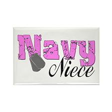 Navy Niece Rectangle Magnet