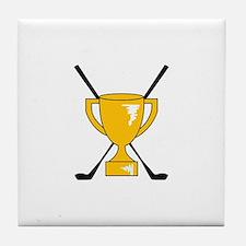 Golf Trophy Cup Tile Coaster