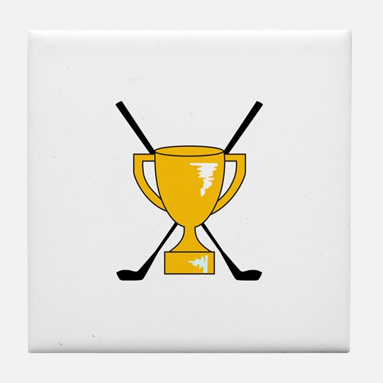 Golf Trophy Cup Tile Coaster