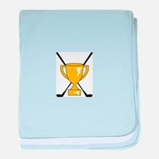 Golf Trophy Cup baby blanket