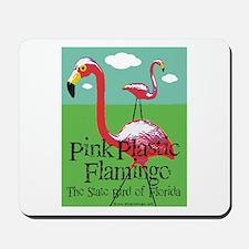 Pink Plastic Flamingo Mousepad