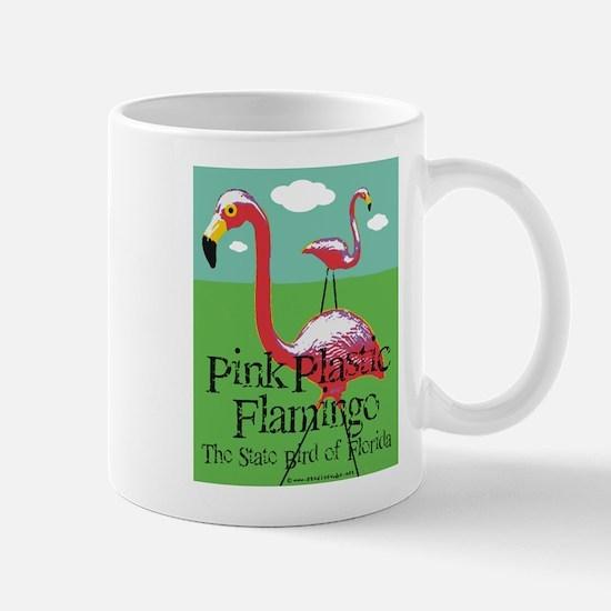 Pink Plastic Flamingo Mug