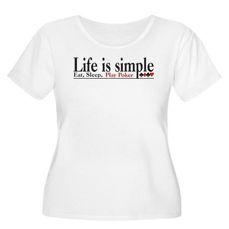Life is Simple Women's Plus Size Scoop Neck T-Shir