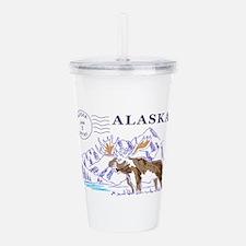 Travel Alaska Acrylic Double-wall Tumbler