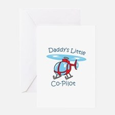 Daddys Co-Pilot Greeting Cards