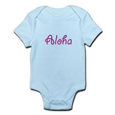 Aloha in pink and purple Body Suit