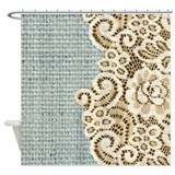 Burlap for Shower Curtains
