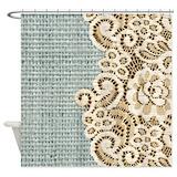 Burlap for Shower Curtains
