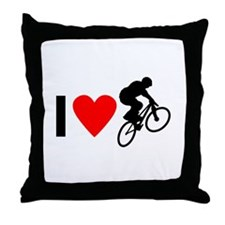 I love BMX Throw Pillow