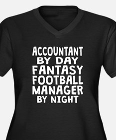Accountant Fantasy Football Manager Plus Size T-Sh
