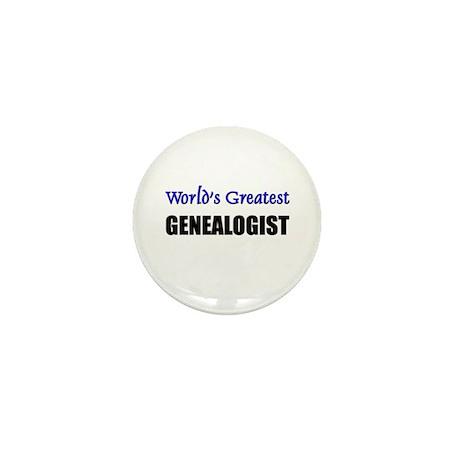 Worlds Greatest GENEALOGIST Mini Button (10 pack)