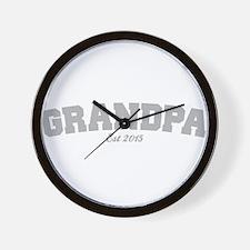 Grandpa Est 2015 Wall Clock