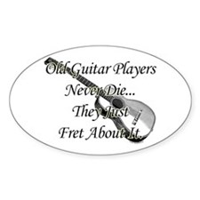 Old Guitar Players Oval Decal
