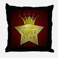 Pageant Super Star Throw Pillow