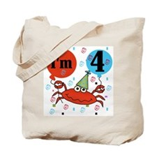 Crab 4th Birthday Tote Bag