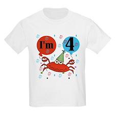 Crab 4th Birthday T-Shirt