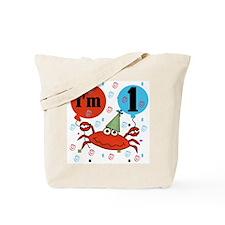 Crab 1st Birthday Tote Bag