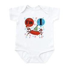 Crab 1st Birthday Infant Bodysuit