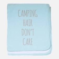 Camping Hair Dont Care baby blanket