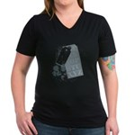 New Section Women's V-Neck Dark T-Shirt