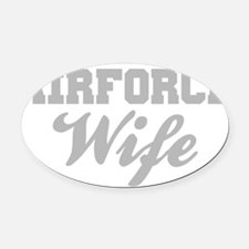 Airforce Wife Oval Car Magnet