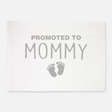 Promoted To Mommy 5'x7'Area Rug