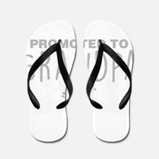 Promoted To Grandpa Flip Flops