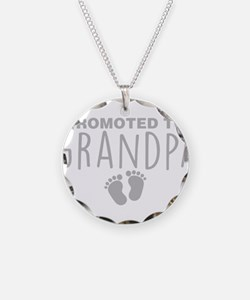 Promoted To Grandpa Necklace