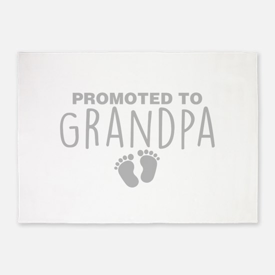 Promoted To Grandpa 5'x7'Area Rug