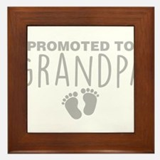Promoted To Grandpa Framed Tile