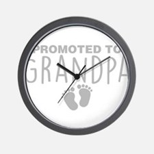 Promoted To Grandpa Wall Clock