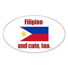Cute Filipino Oval Decal