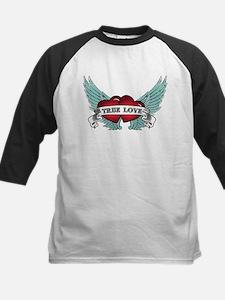 True Love Rockabilly Heart Baseball Jersey