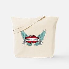 True Love Rockabilly Heart Tote Bag