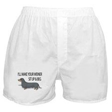 Cute Weiner dog Boxer Shorts