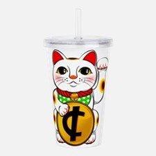 Cent Lucky Cat Maneki Acrylic Double-wall Tumbler
