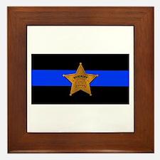 Sheriff Thin Blue Line Framed Tile