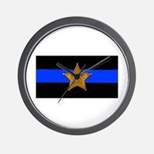 Sheriff Thin Blue Line Wall Clock