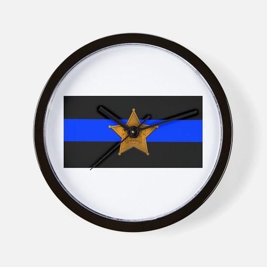 Sheriff Thin Blue Line Wall Clock