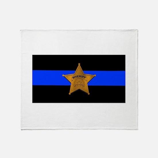 Sheriff Thin Blue Line Throw Blanket