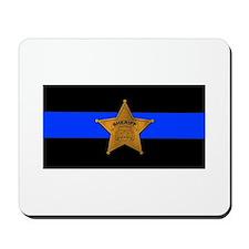 Sheriff Thin Blue Line Mousepad