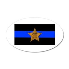 Sheriff Thin Blue Line Wall Decal