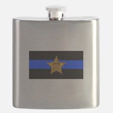 Sheriff Thin Blue Line Flask