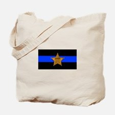 Sheriff Thin Blue Line Tote Bag