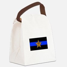 Sheriff Thin Blue Line Canvas Lunch Bag