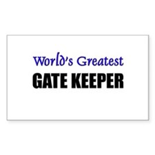 Worlds Greatest GATE KEEPER Rectangle Decal