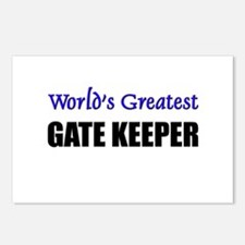 Worlds Greatest GATE KEEPER Postcards (Package of